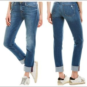 Frame Le Nik Straight Leg / Cuffed Jeans Moma Wash